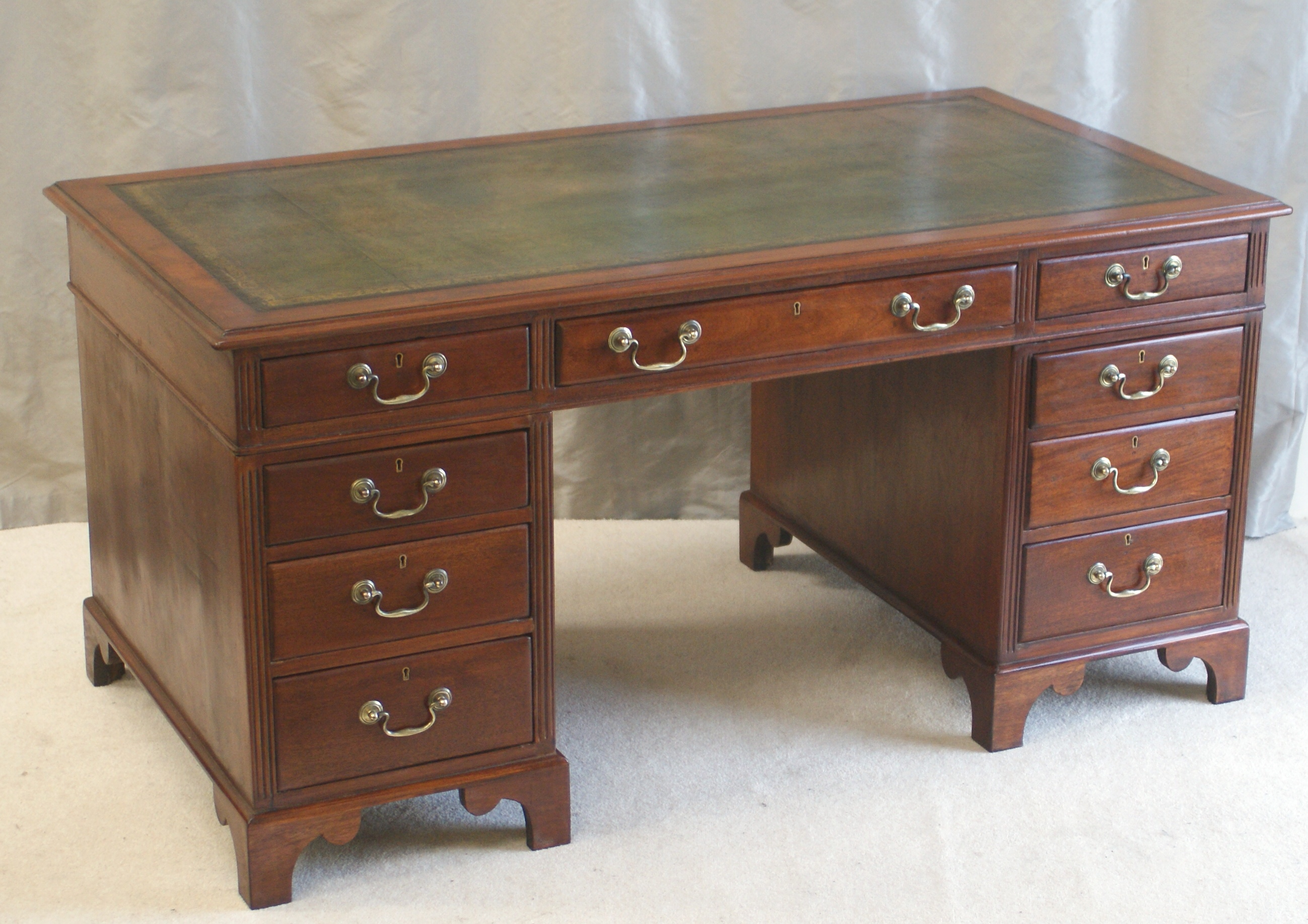 office library htm pedestal slope regency uk furniture fitted table mahogany period writing desks original antique desk with
