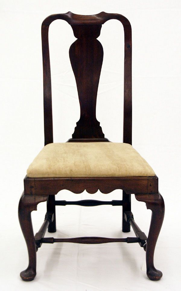 Fine 18th C American Queen Anne Mahogany Boston, Massachusetts Side Chair  Circa: 1740-1760. Antique Furniture - Fine 18th C American Queen Anne Mahogany Boston, Massachusetts Side