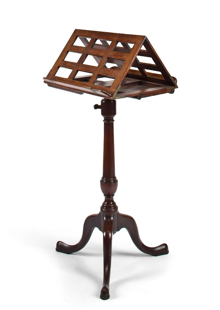 rare important 18th c american mahogany music stand with two candle slides joseph short for. Black Bedroom Furniture Sets. Home Design Ideas