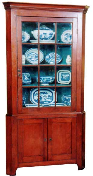 Etonnant This Is A Very Fine Early 19th Century Diminutive American Federal New  England Cherry Corner Cupboard Of Rare Small Size. This Corner Cupboard Has  Four Fine ...