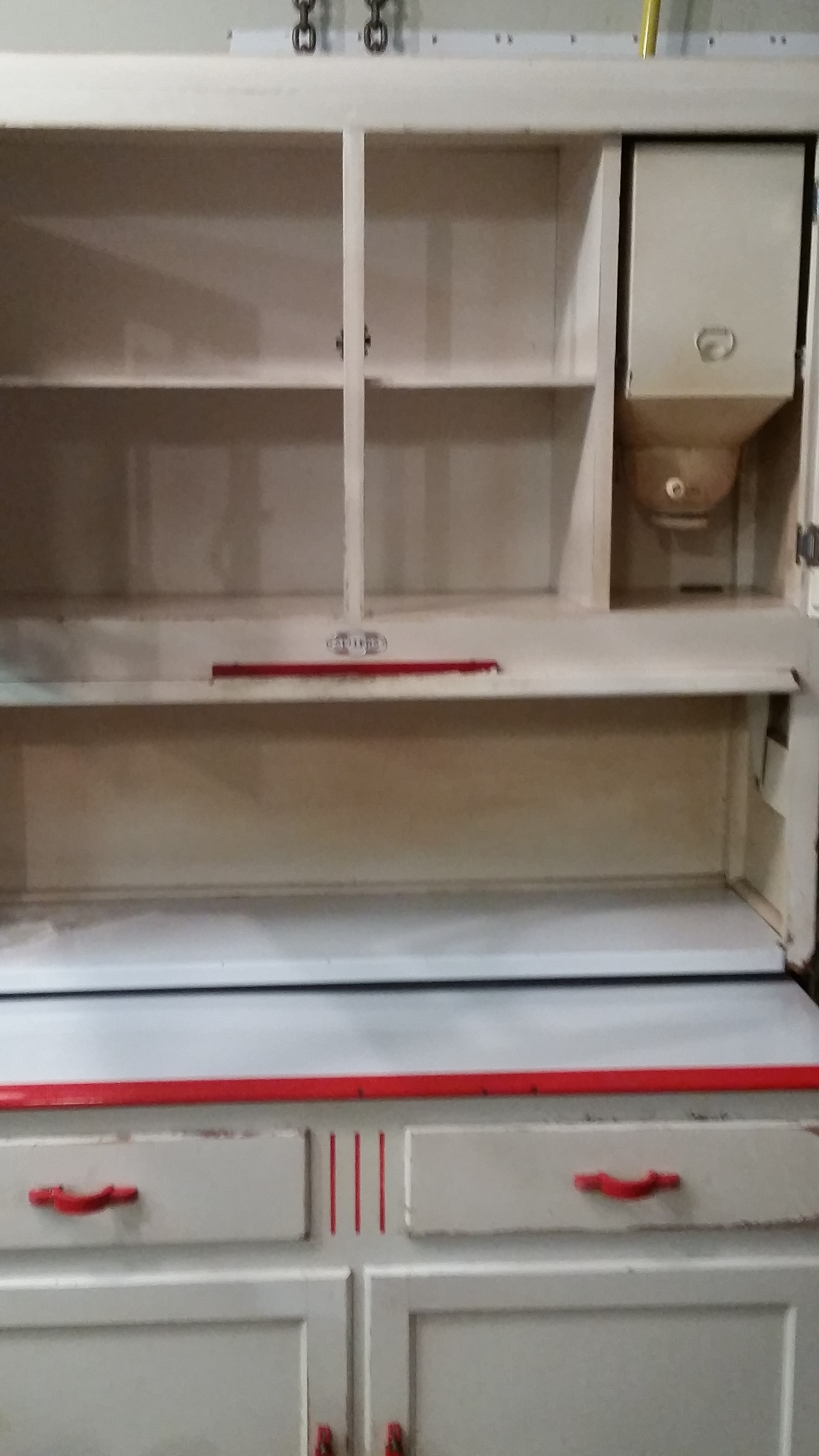 sellers hoosier kitchen cabinet with cupboard for sale
