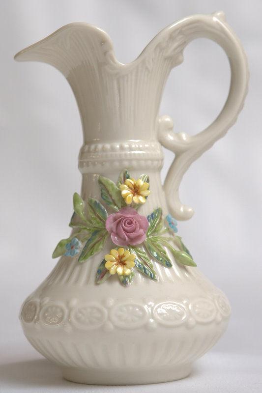 Belleek Aberdeen Vase Pitcher Brown Mark For Sale