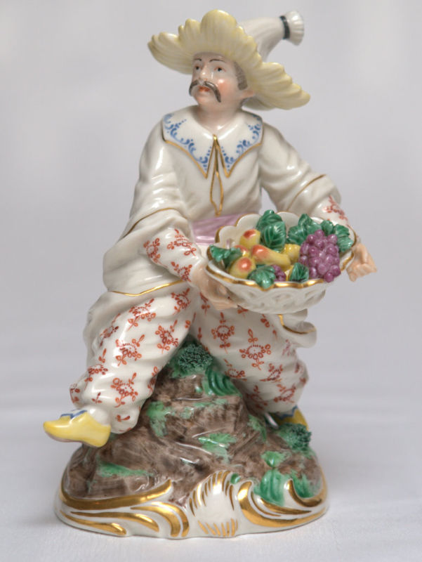 Rare Pair Of Nymphenburg Bustelli Hand Colored Chinoiserie Figurines For Sale Antiques Com