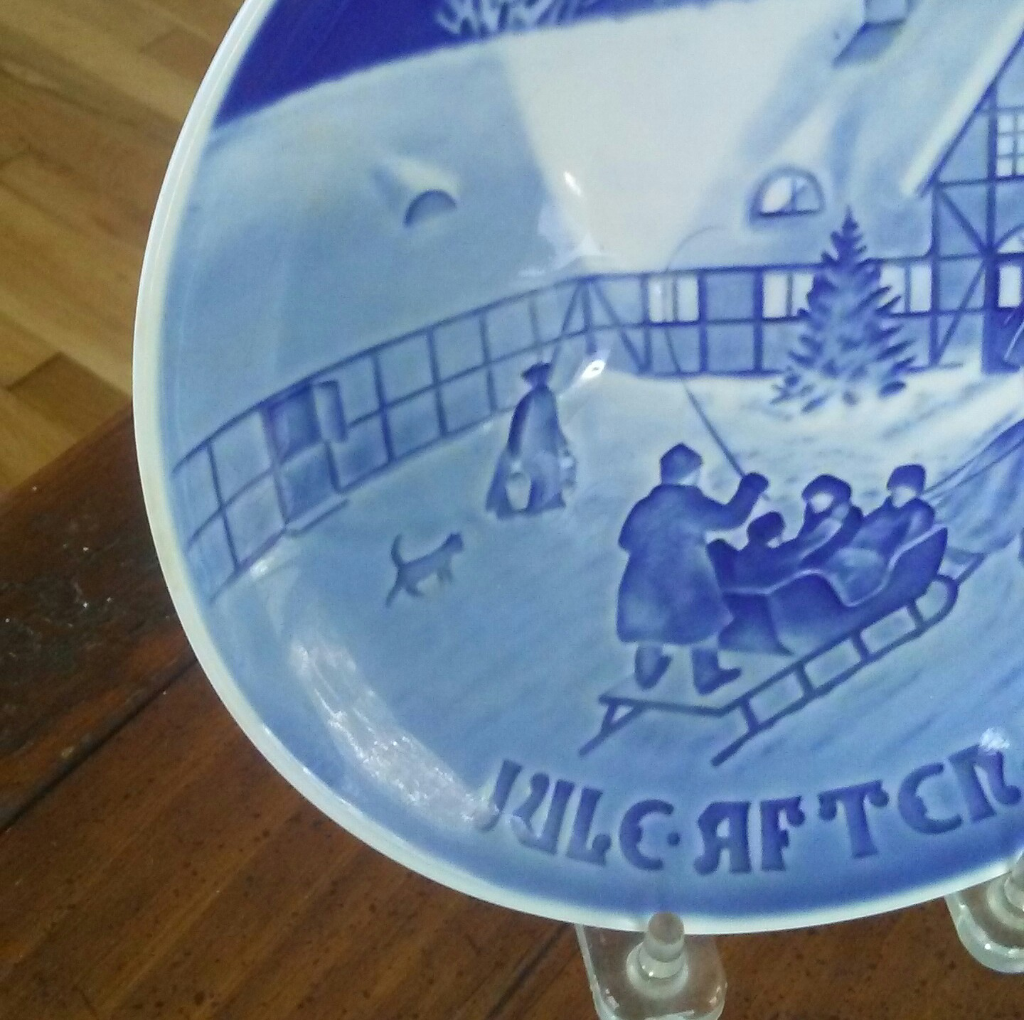 vintage christmas collectible plate blue christmas blue white decoration christmas decoration danish plate b g plate christmas decor for sale
