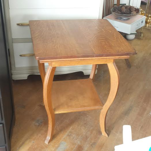 Antique Lamp Table. This Tiger Oak Table Is Perfect As An End Table. Night  Stand, Plant Stand, Entryway Table, And Would Make A Great Guest Reception  Table ...