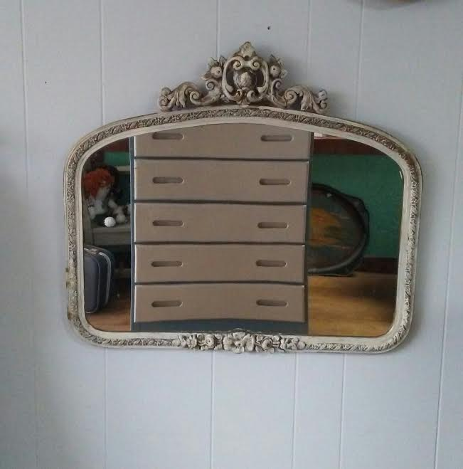 Farmhouse Wall Mirror White Mirror Victorian Mirror Cottage