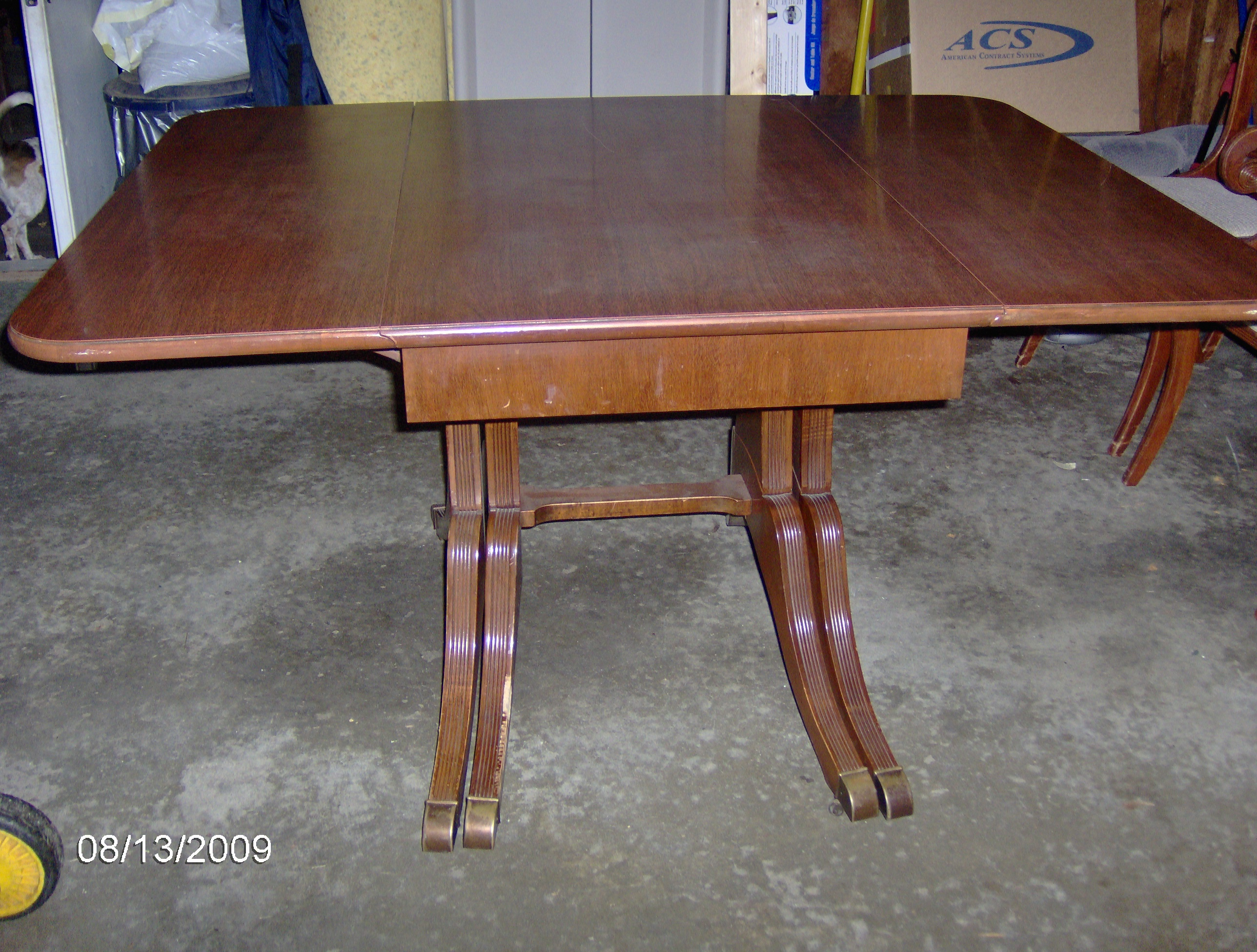 Antique Duncan Phyfe Drop Leaf Table and Chairs For Sale : Antiques.com : Classifieds