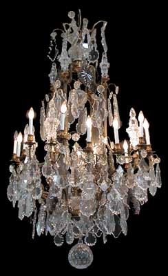 19th century baccarat crystal chandelier with bronze frame for sale 9652 cm country of originfrance stylebaccarat conditionrestored yearc 1880 descriptionbeautiful 19th century baccarat crystal chandelier with aloadofball Choice Image
