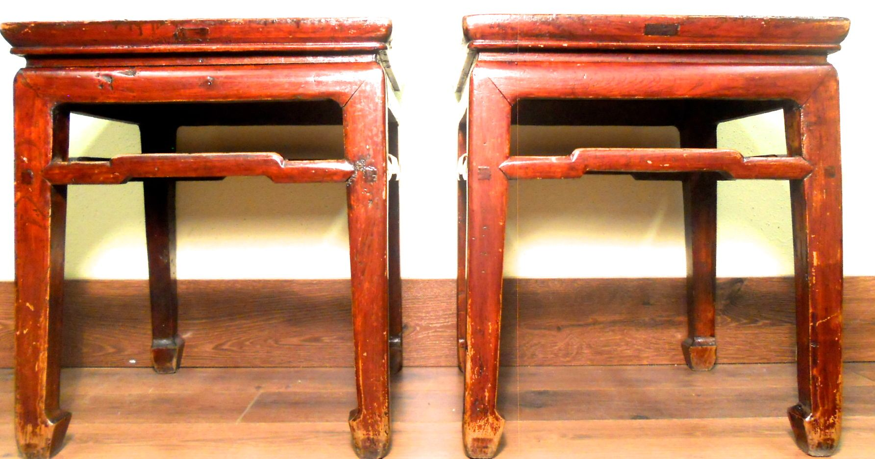 This pair of authentic Antique Chinese Ming Meditation Bench is handcrafted in Ming style with traditional  horse-hoof  legs and straight lines.  sc 1 st  Antiques.com : chinese stools wood - islam-shia.org