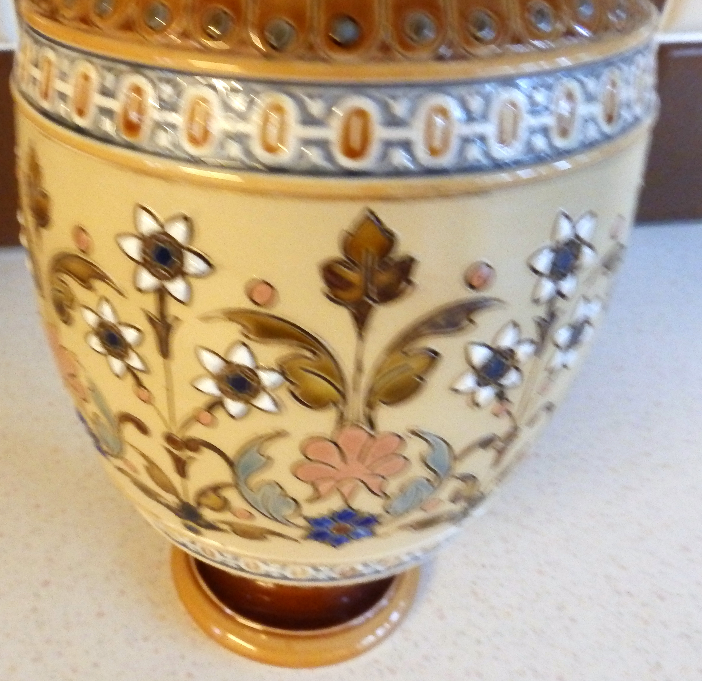 Fine Quality Mettlach German Stoneware Vase With Date Mark For 1884 For Sale Antiques Com