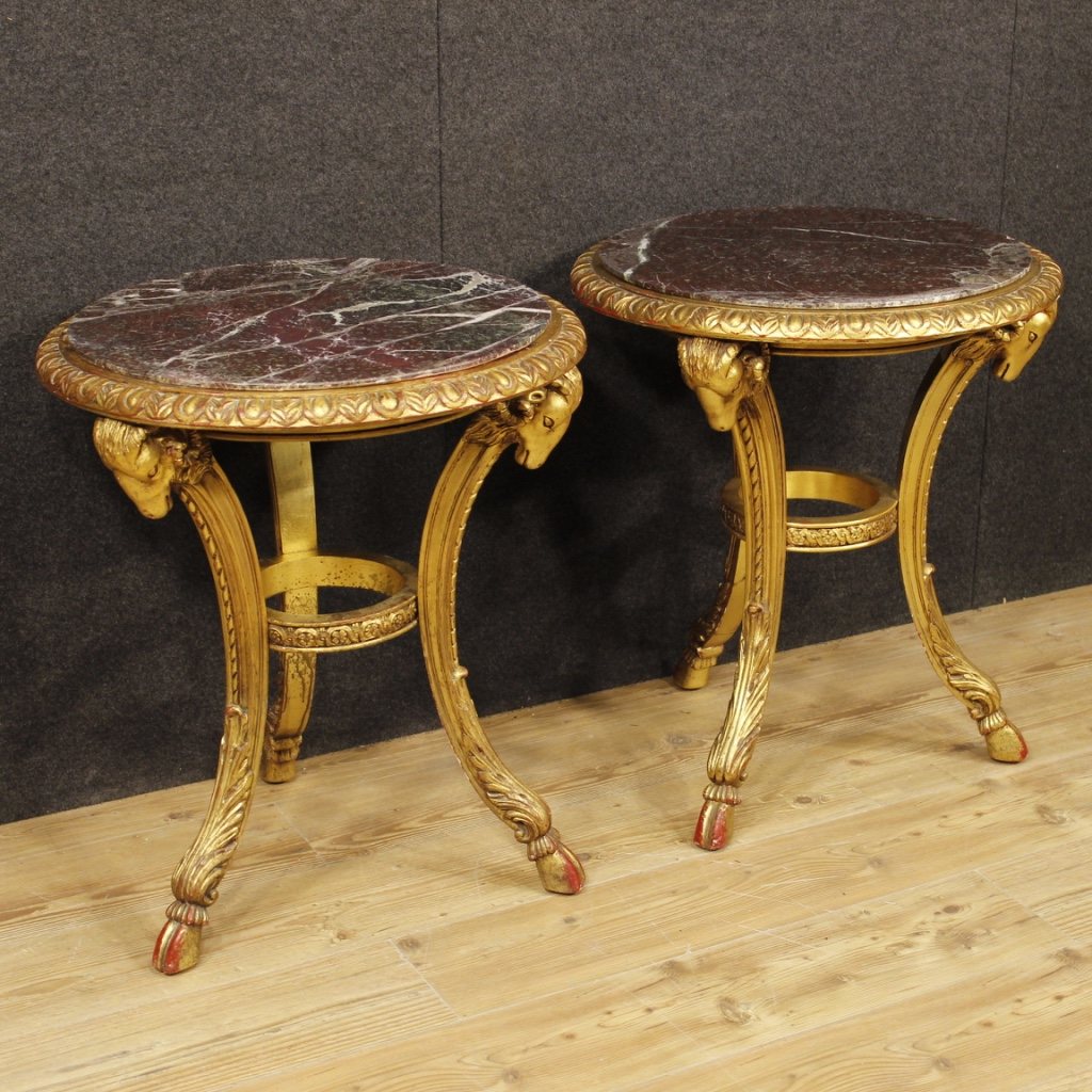 Furniture In Finely Carved And Gilded Wood With Zoomorphic Elements Of  Excellent Quality. Tables That Can Be Easily Inserted In Different Parts Of  ...