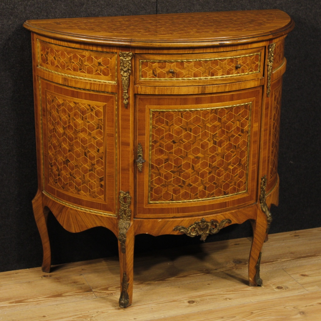 french inlaid demilune sideboard for sale classifieds. Black Bedroom Furniture Sets. Home Design Ideas