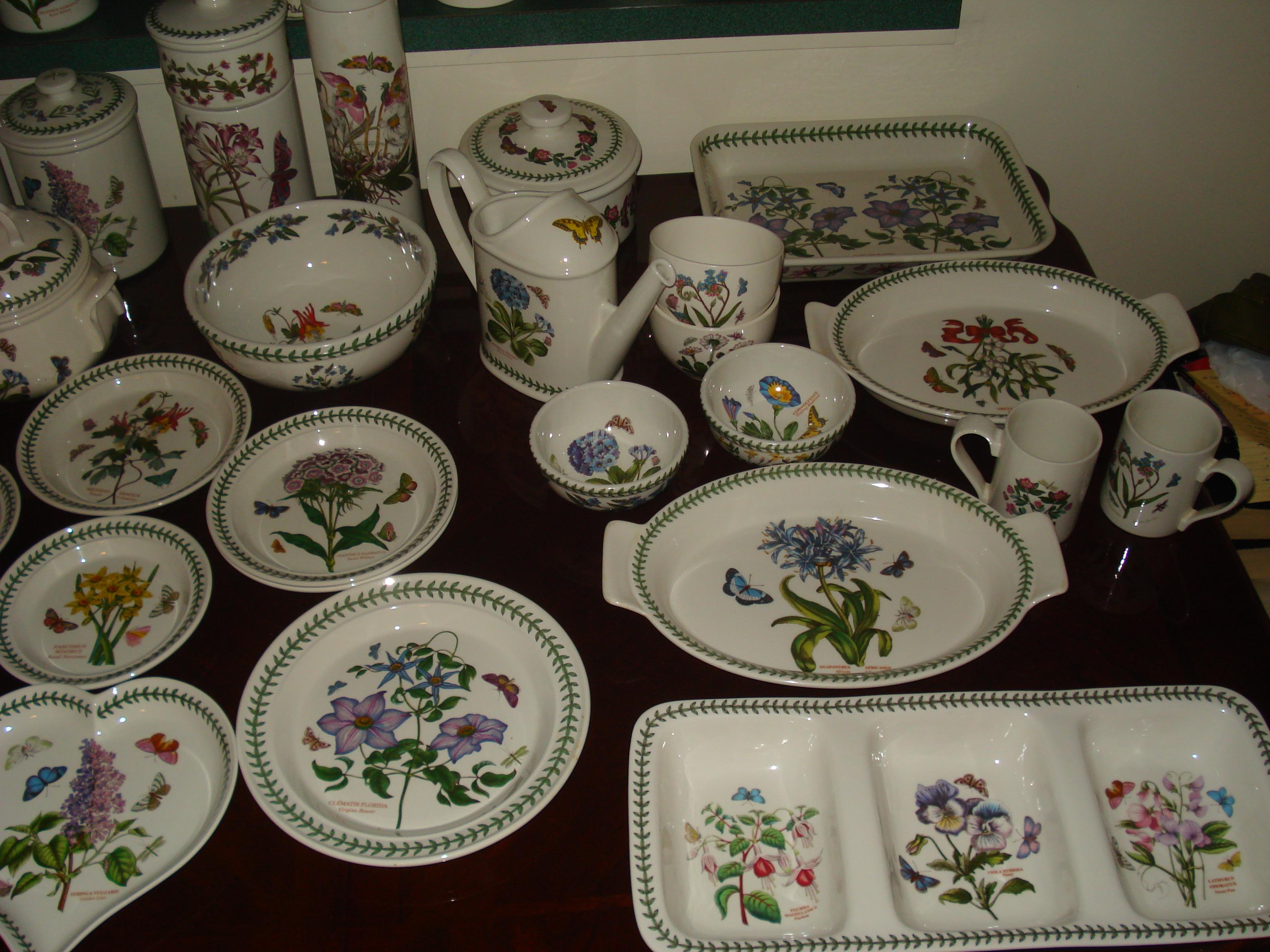 Portmeirion Dinnerware Botanic Garden Collection & Garden Tableware - Castrophotos