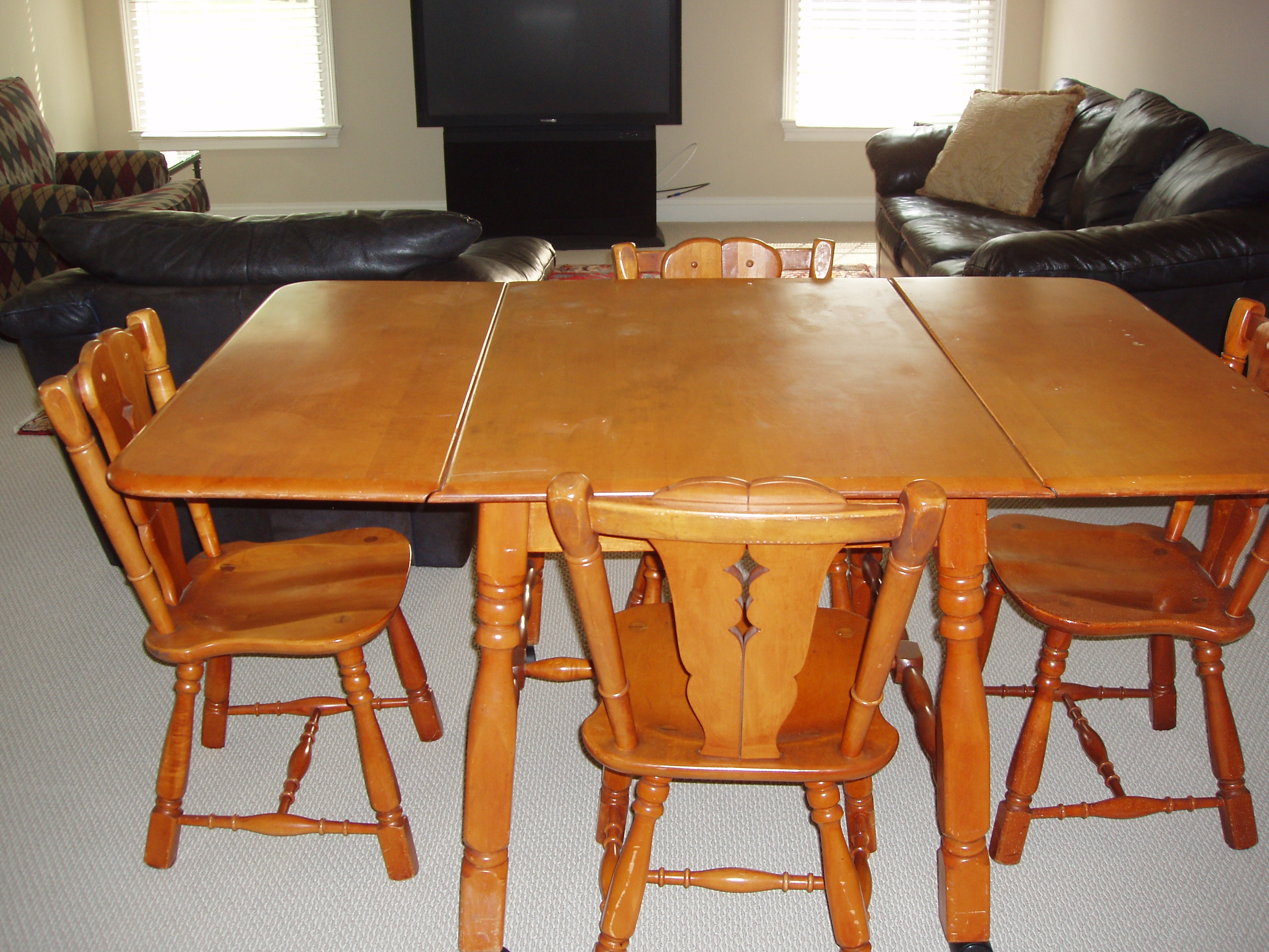 maple drop leaf table and 4 chairs for sale antiques classifieds