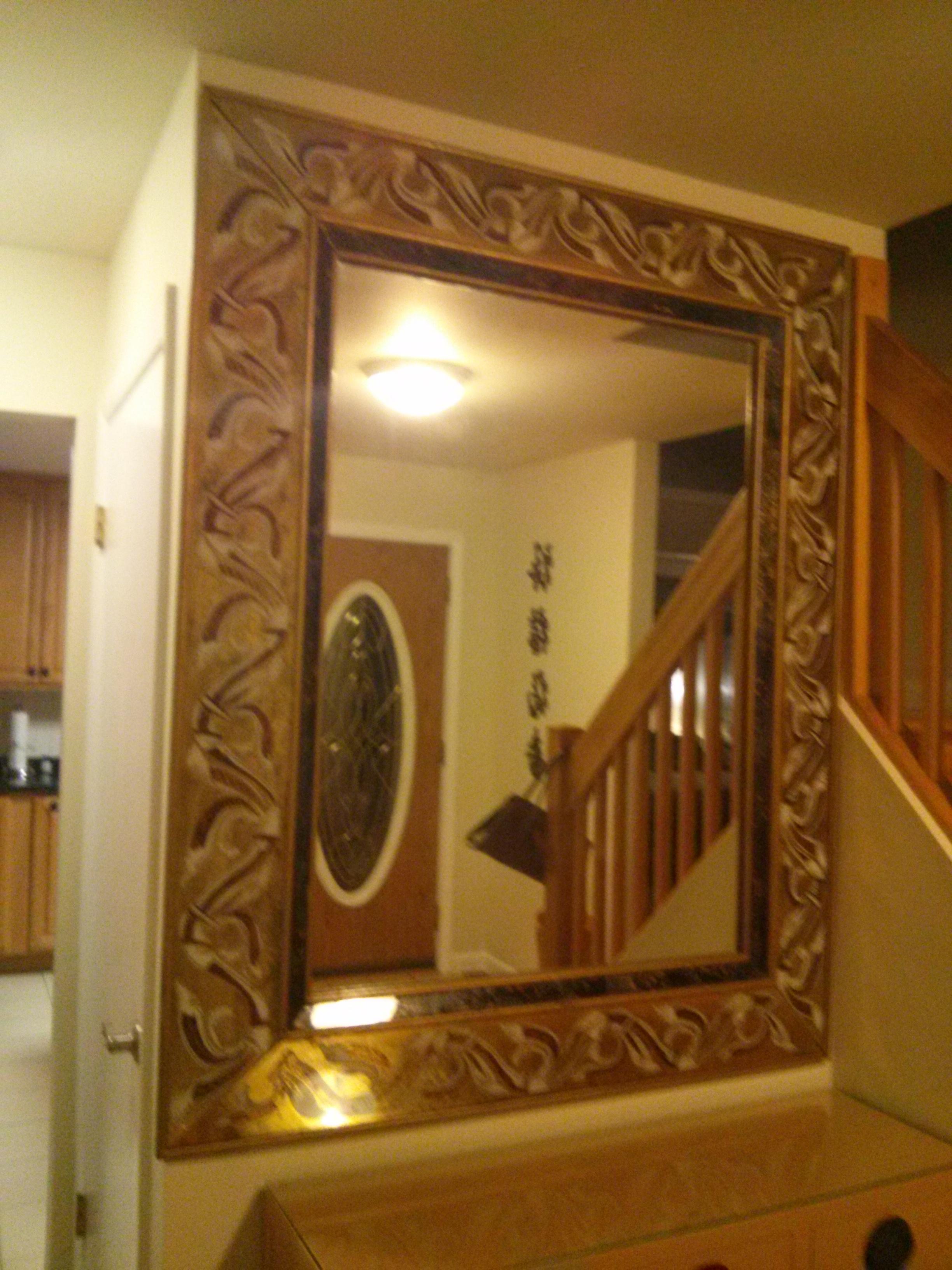 Antique Foyer Mirror : Dramatic antique entryway mirror masterpiece for sale