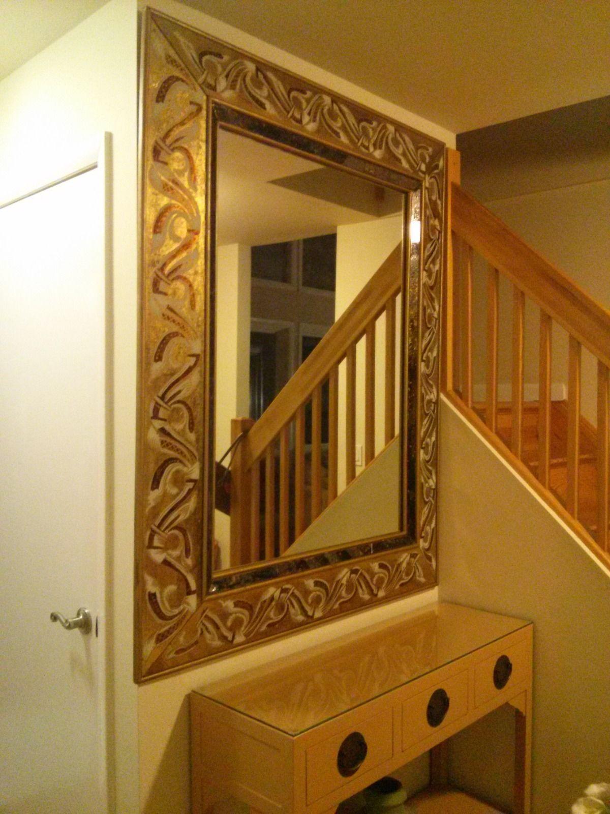 Foyer Mirror Newspaper : Dramatic antique entryway mirror masterpiece for sale