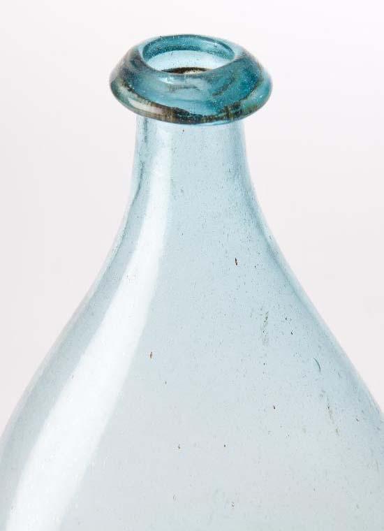 "Vintage TC T C Covert Ovid NY Greenish//Bluish Glass Bottle 7/"" H  x 2 1//4/"" W"