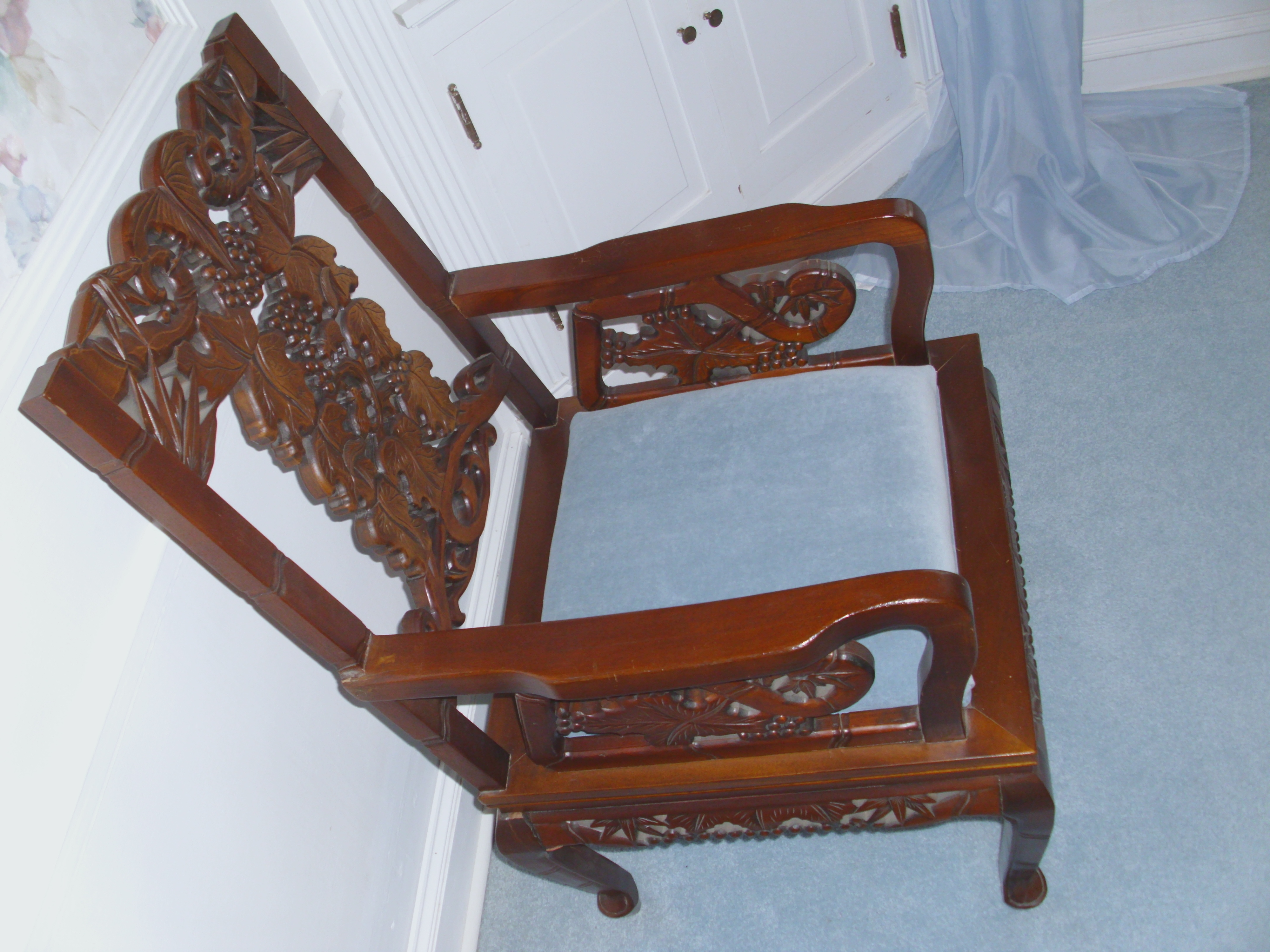 Chinese Hand Carved Dining Room Table U0026 Chairs   For Sale