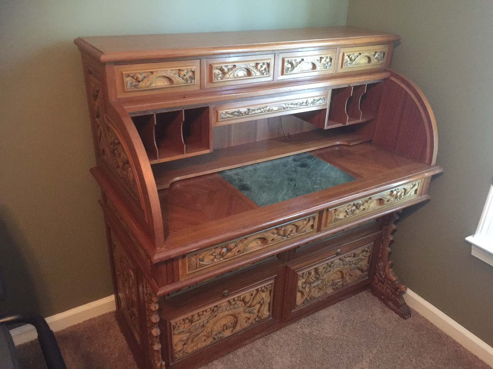 Rollup Desk For Sale  Antiquesm  Classifieds. Thin Bedside Table. Small Desk Ikea. Shoes Drawer. Contemporary Dining Table Set. Bunk Beds With Desk Underneath For Sale. Solid Wood Home Office Desk. How To Build A Treadmill Desk. 8 Ft Table