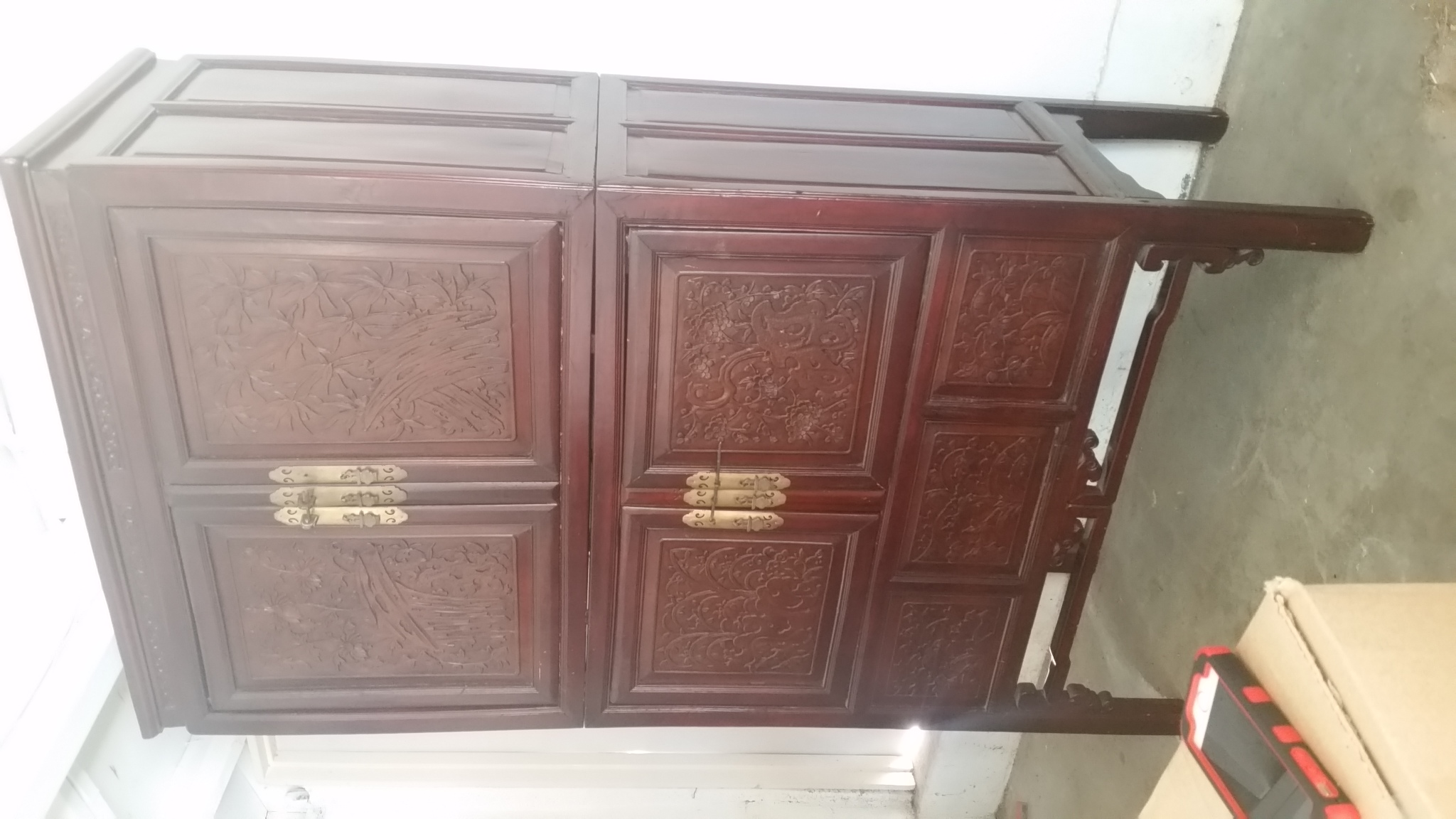 beautiful antique chinese armoire 1850 39 s four doors plus secret compartment for sale antiques. Black Bedroom Furniture Sets. Home Design Ideas