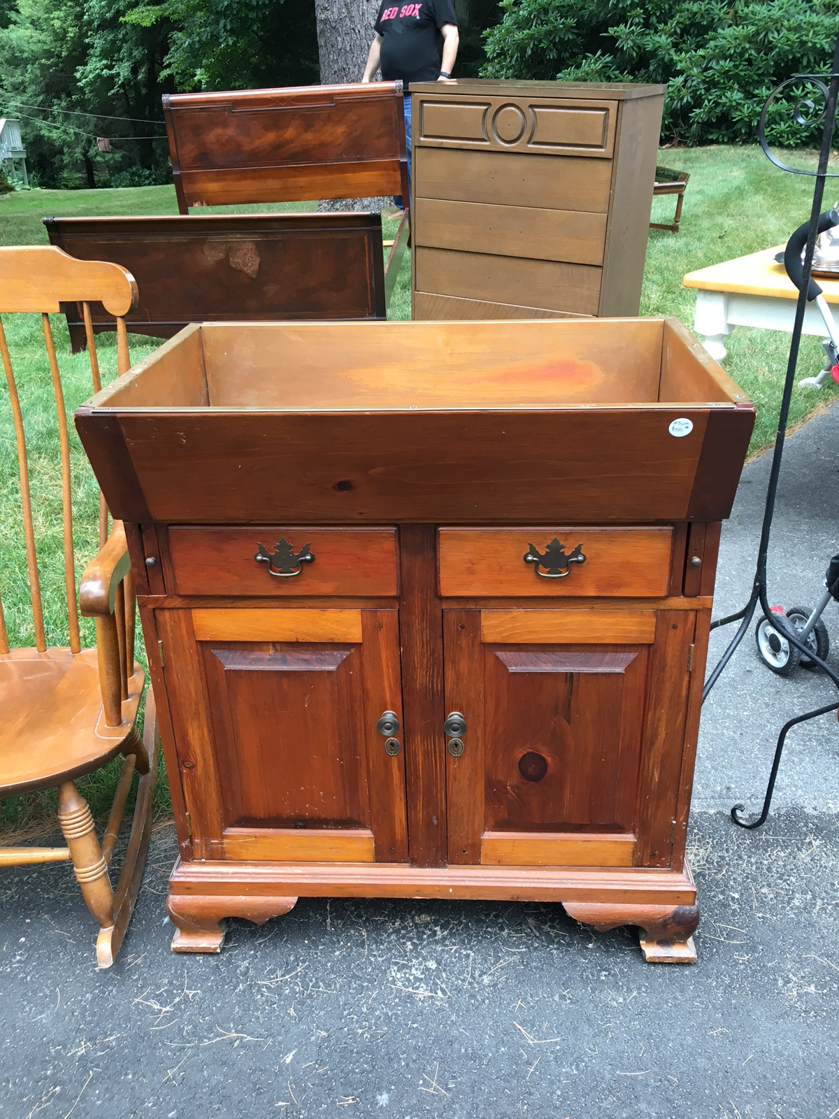 Antique Dry Sink For Sale Part - 14: copper lined dry sink - For Sale