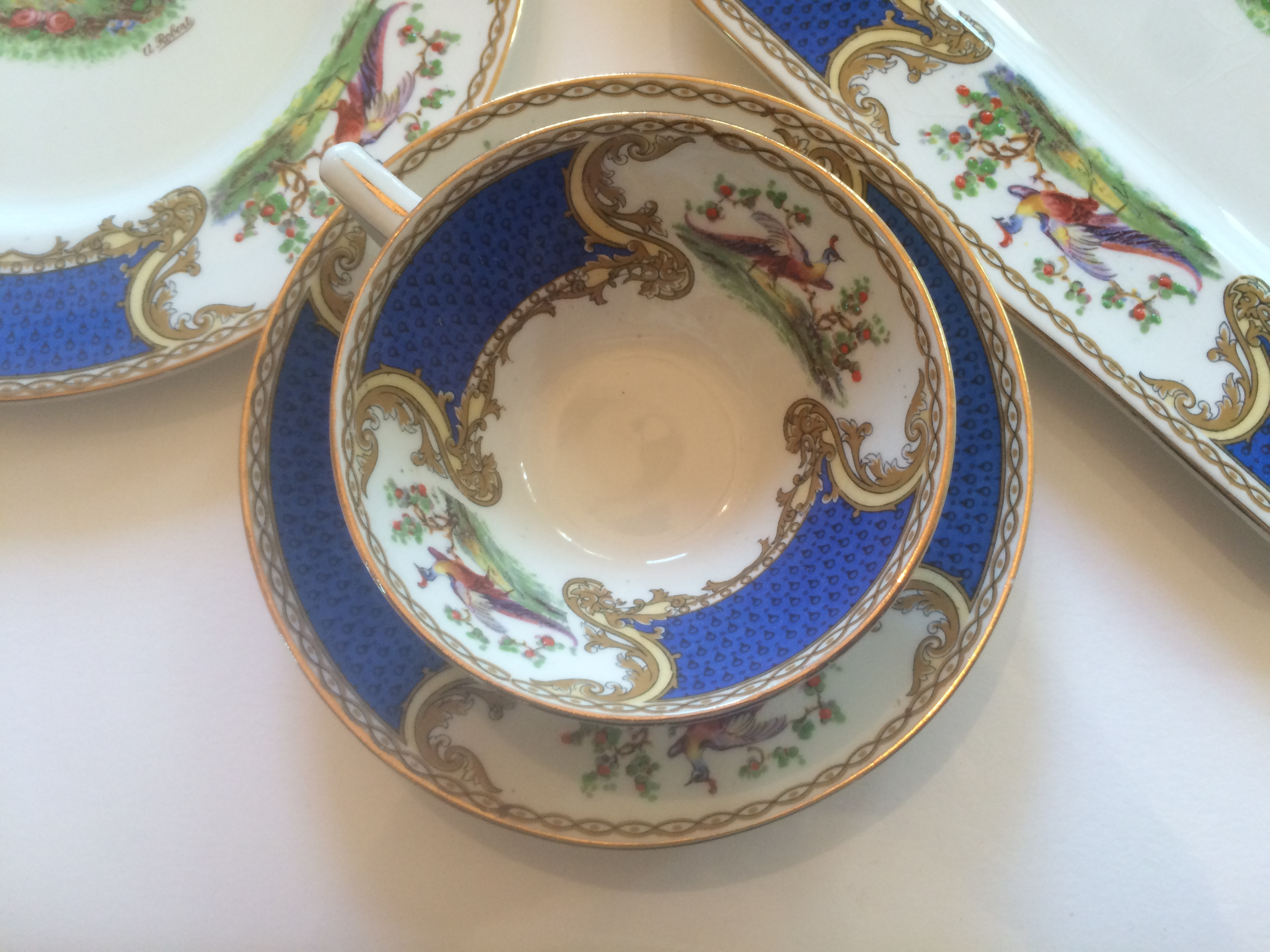 This is truly beautiful set of Vintage Myott Staffordshire  Chelsea Bird  dinnerware in blue (I have not seen other listings for these dishes in blue. & Vintage Myott Staffordshire Chelsea Bird Blue Dishes -- Luncheon ...