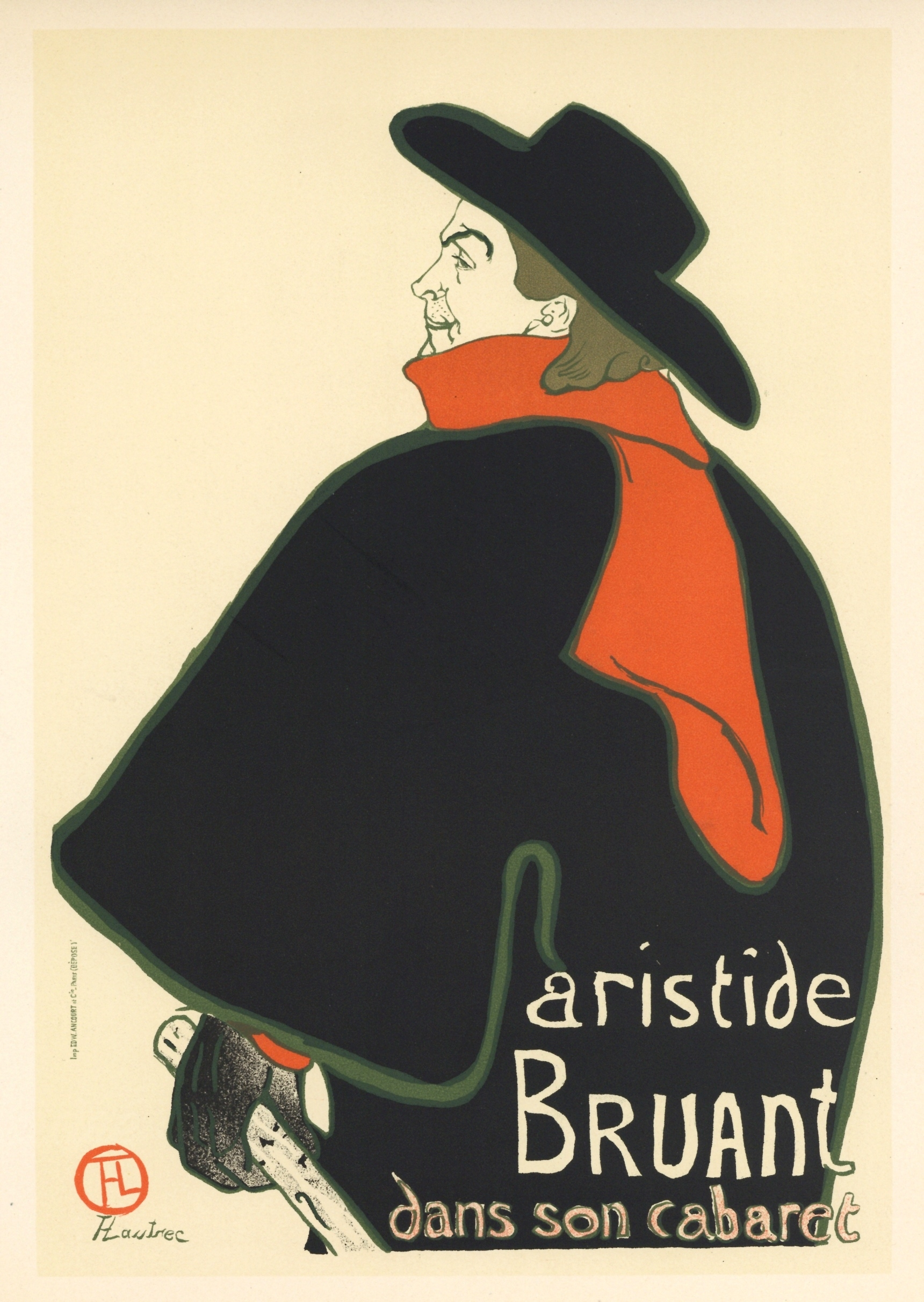 toulouse lautrec lithograph poster aristide bruant for sale classifieds. Black Bedroom Furniture Sets. Home Design Ideas