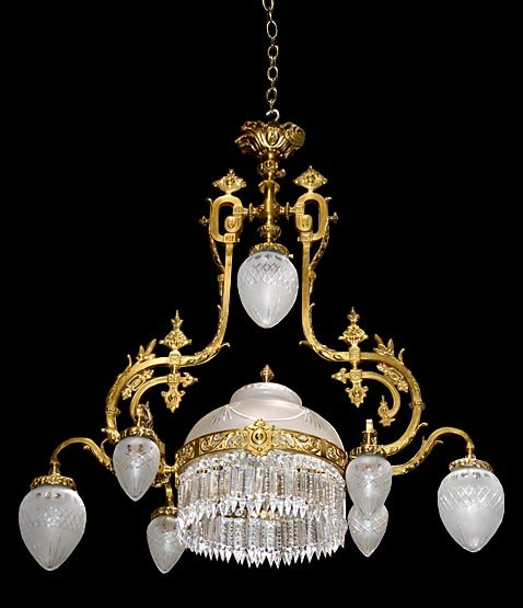 Beautiful American Victorian Chandelier with Crystal Prisms For – Victorian Chandelier