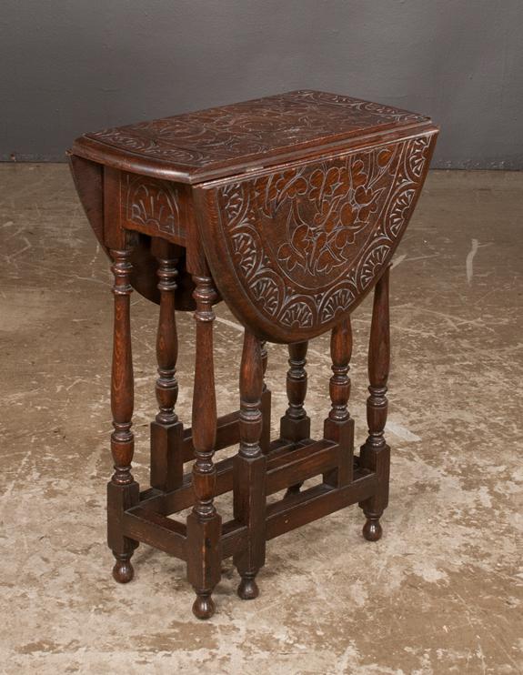 Antique English Oak Gate Leg Table For Sale