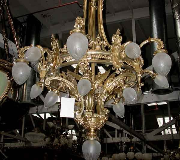Antique 19th Century French Solid Bronze Chandelier For Sale | Antiques.com  | Classifieds - Antique 19th Century French Solid Bronze Chandelier For Sale
