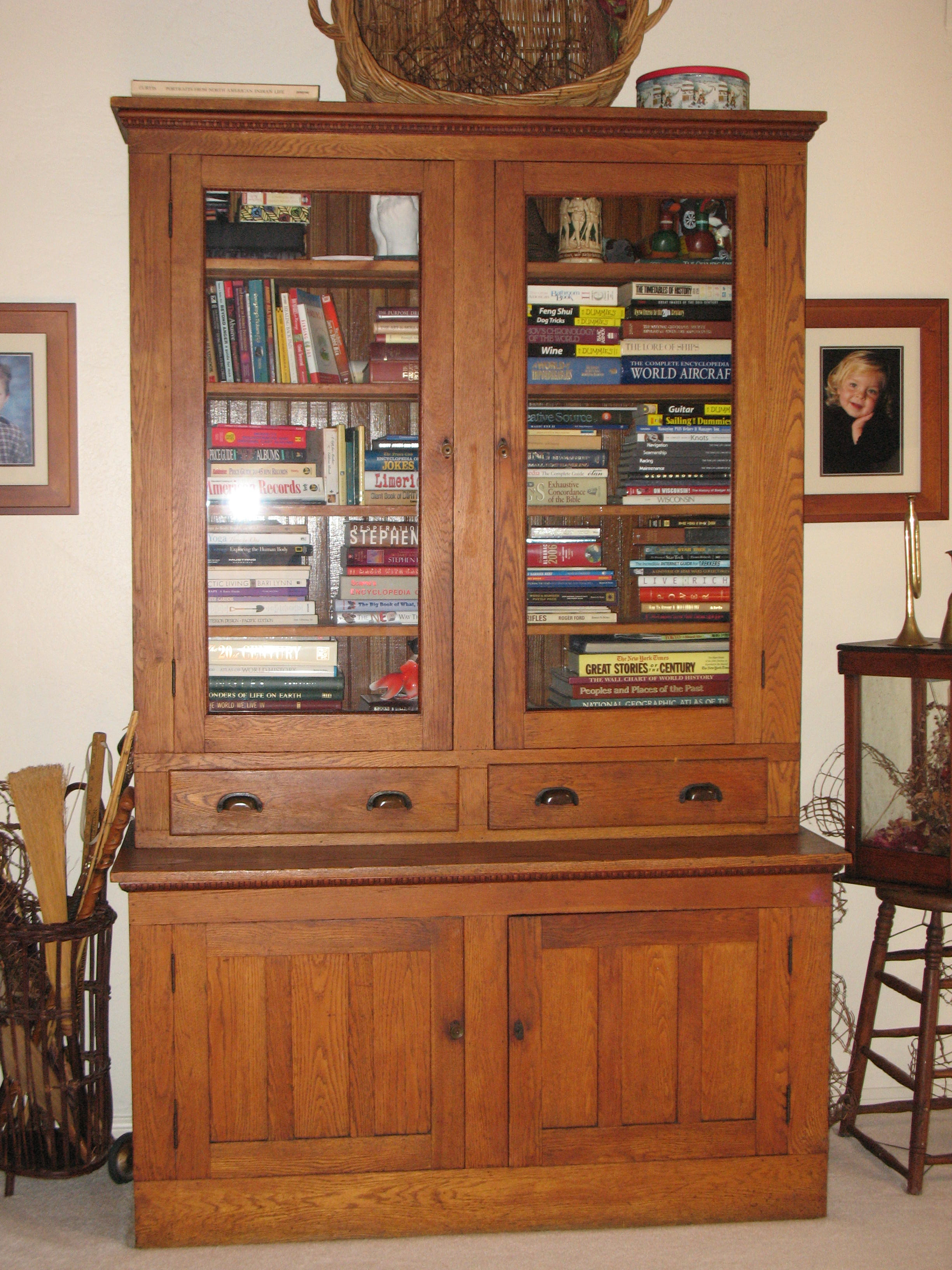Antique Country Store Display Cabinet - 17 high 17 deep and 17 ...