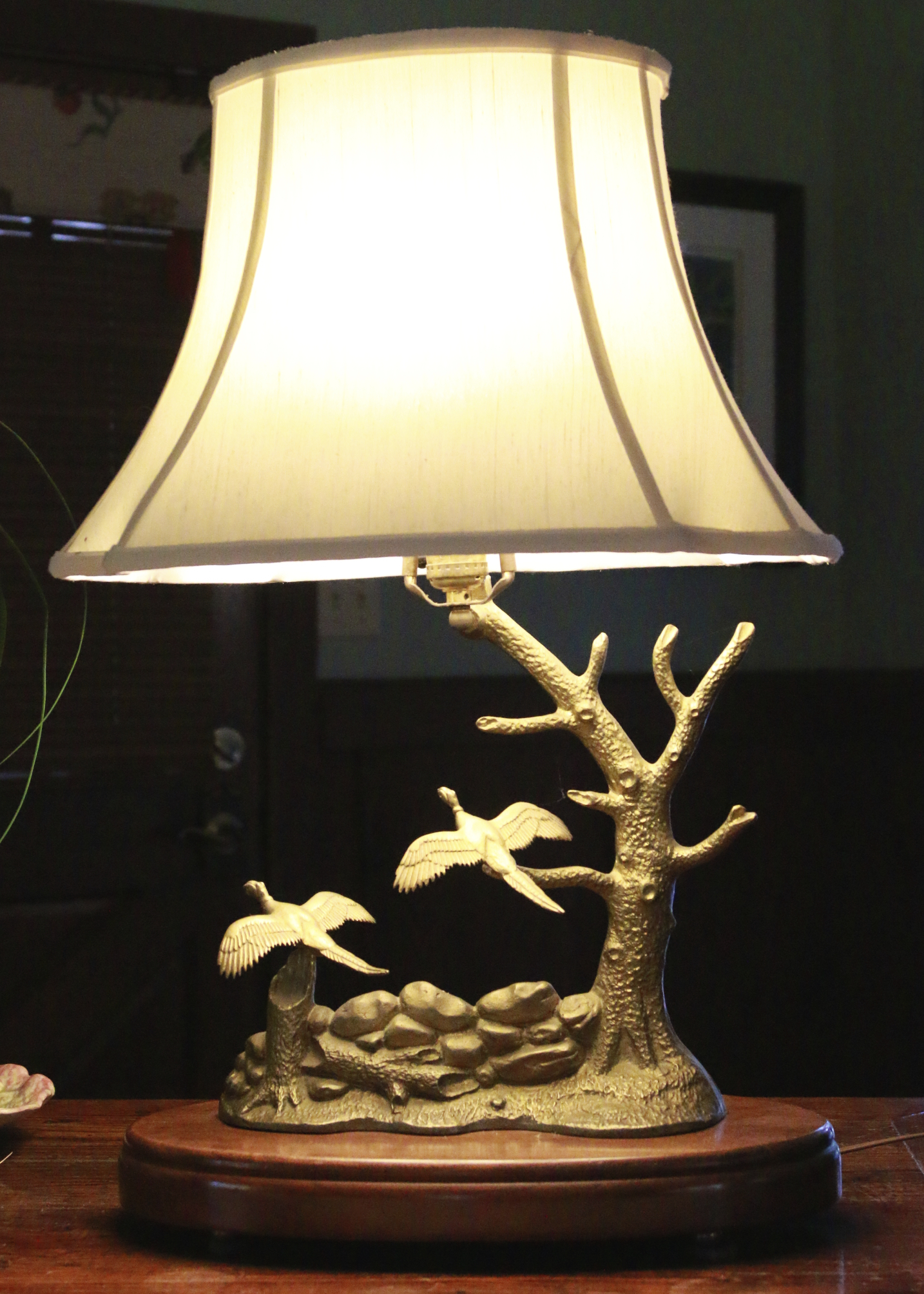 Donald W Mcdonald Brass Pheasant Sport Lamp For Sale Antiques Com Classifieds