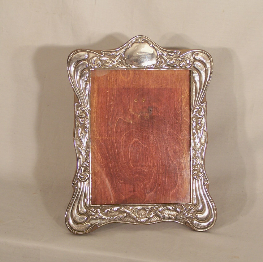 7900 Vintage sterling silver photograph frame on stand c1900 For ...