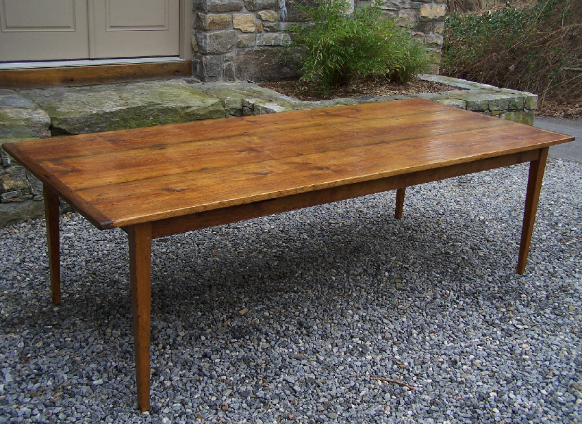 Elegant 8029 Pumpkin Pine Harvest Table From Early New England Boards   For Sale