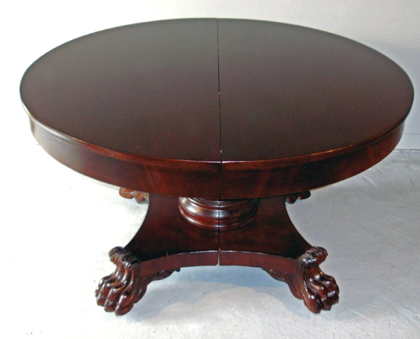 7893 American Empire Period Mahogany Dining Table C1825 For Sale Antiques Com Classifieds