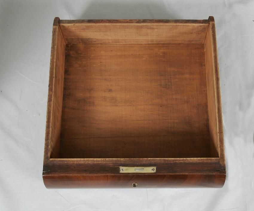 7822 Period American Empire Mahogany Work Table Claw Feet