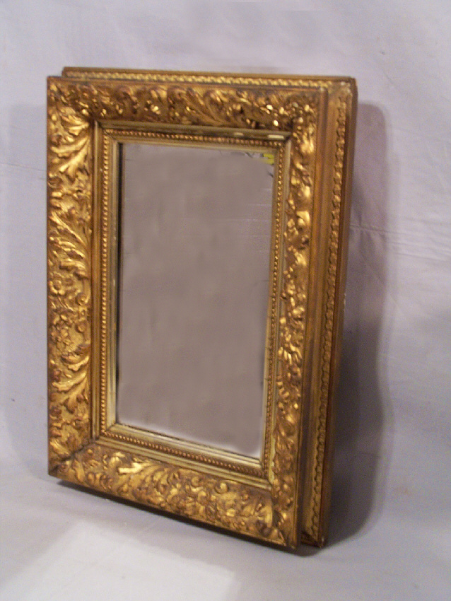 8141 American Gold Leaf Mirror C1870 For Sale Antiques
