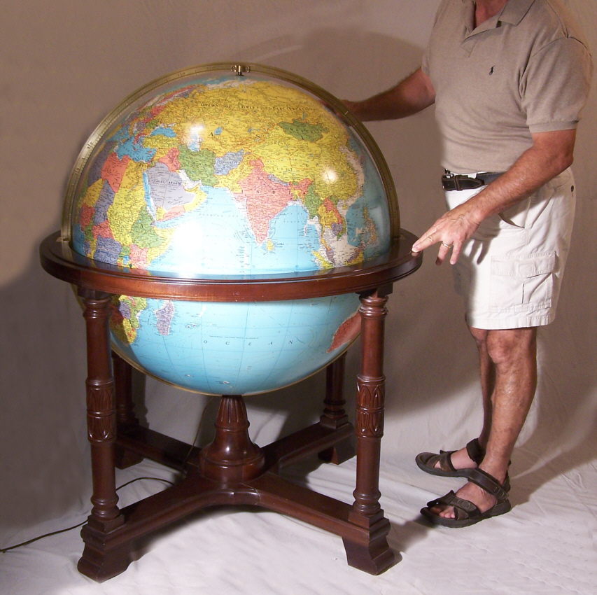 Globes For Sale >> 9250 Diplomat Library Globe Replogle Globes Inc U S A For Sale