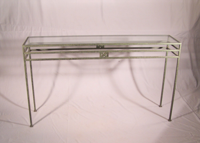 Modern Bronze Console Or Sofa Table With Glass Top C1970. Classic, Clean  Design And Elegant Proportions. Measures 57 Inches Long, 13 Inches Deep And  33 ...