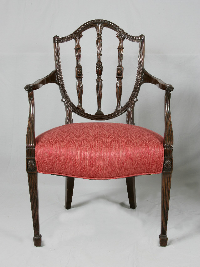 7821 American Federal Centennial Mahogany Arm Chair C1880   For Sale
