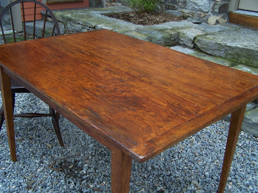 8127 Country pumpkin pine hand made kitchen table For