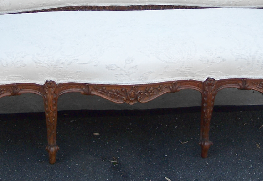 8108 french provincial walnut canape c1880 for sale for Canape for sale