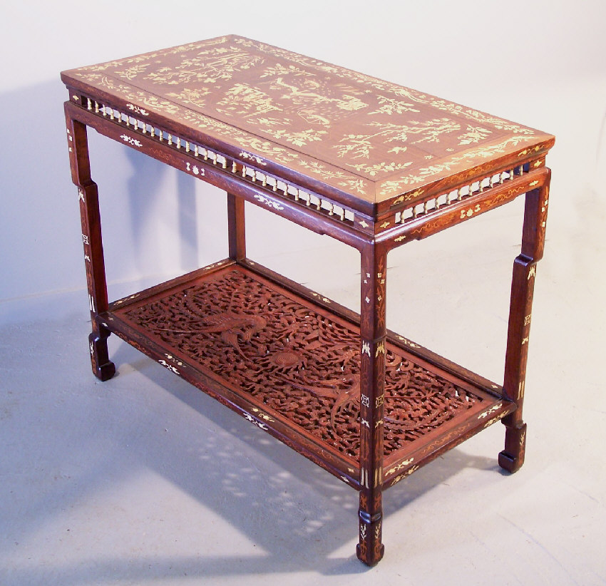 7789 Chinese inlaid rosewood console table c1820 For Sale ...