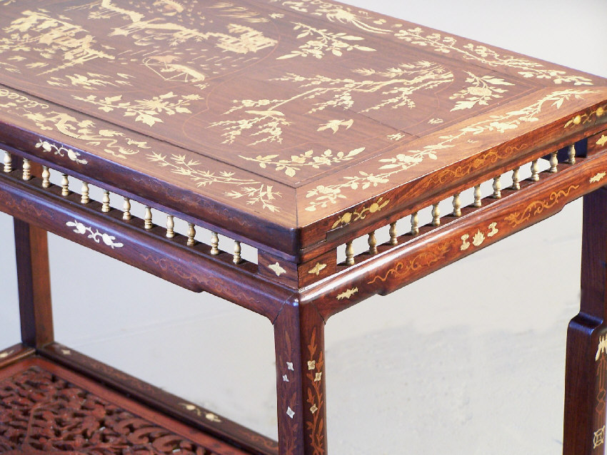 7789 chinese inlaid rosewood console table c1820 for sale for Antique chinese tables for sale