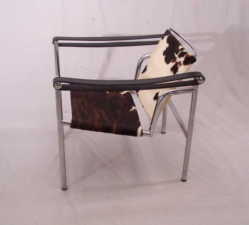 Le Corbusier Basculant LC 1 Modern Classic Chair With Pony Hide. Measures  23 Inches Outside Of Its Arms, 24.5 Inches Deep, 25 Inches To The Top Of  Its Back ...