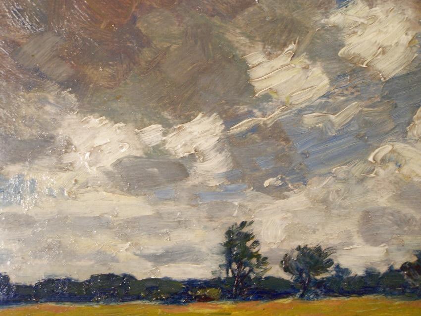 8155 Edward Seago Impressionist Landscape Oil Painting