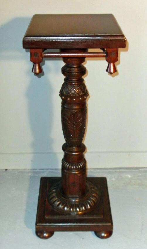 8451 American Aesthetic Period Walnut Pedestal C1870 For