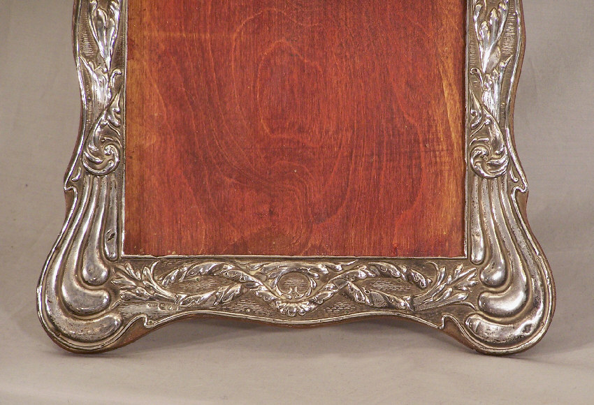 7900 vintage sterling silver photograph frame on stand c1900 for sale
