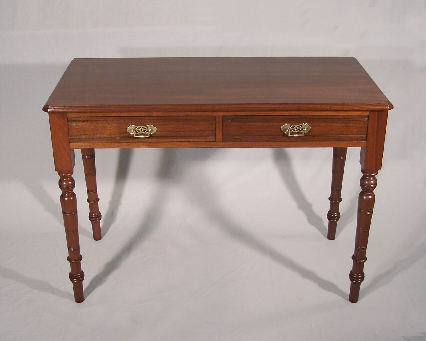 American Black Walnut Two Drawer Library Table Or Desk C1875 Measures 41 5 Inches Wide By 21 Deep 29 High