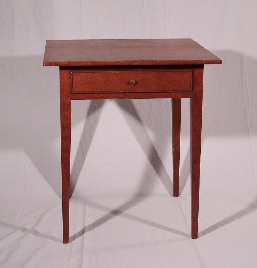7780 Vintage country cherry Hepplewhite style night stand For Sale Antiques